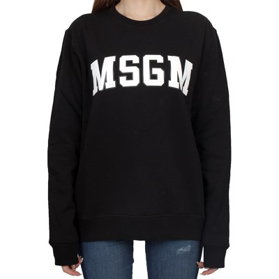 19FW MSGM 로고 맨투맨 (블랙/여성) 2741MDM63 799 99