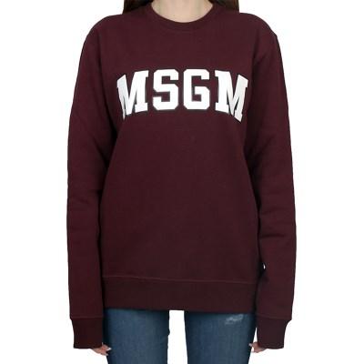 19FW MSGM 로고 맨투맨 (버건디/여성) 2741MDM63 799 20