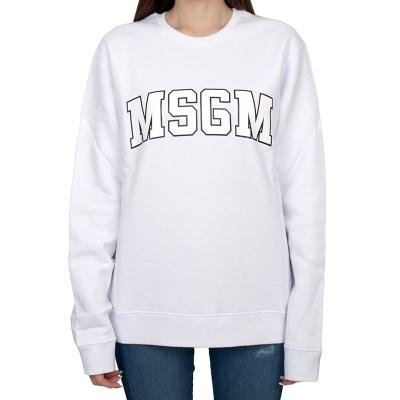 19FW MSGM 로고 맨투맨 (화이트/여성) 2741MDM63 799 01