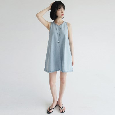 cutie denim sleeve midi dress_(1292490)