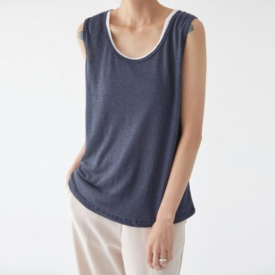 summer colorful linen sleeveless_(1292425)