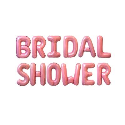 [브라이덜샤워 파티용품] 브라이덜샤워 이니셜 핑크 풍선