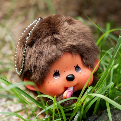 Fly! Big Head Monchhichi Boy Keychain