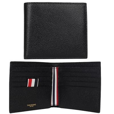 19FW 톰브라운 페블그레인 삼선 클래식 반지갑 (블랙) MAW023A 00198