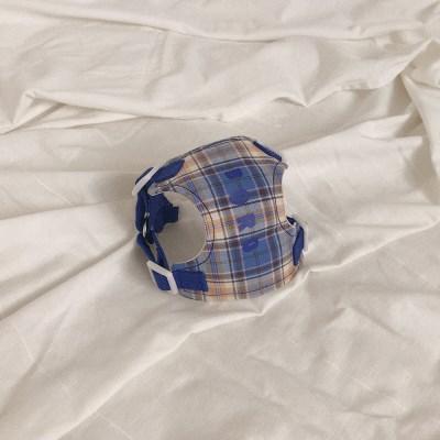 [이름 각인] Soft check harness (blue)