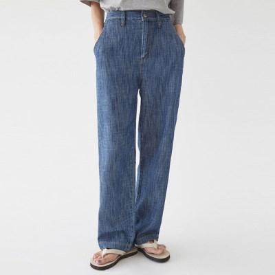 three denim wide pants (xs, s, m, l, xl)_(1292863)