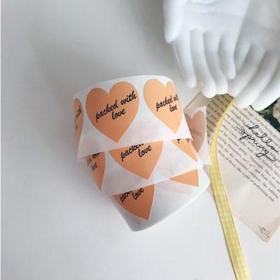 With Love Orange Sticker (12ea) 위드러브오렌지스티커