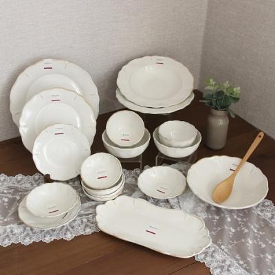 로맨틱라움2인홈세트(B)(18p) 신혼 도자기 빈티지 그릇 식기 세트