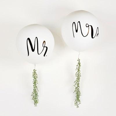 Mr, Mrs 점보 풍선- jumbo balloon(Mr / Mrs)
