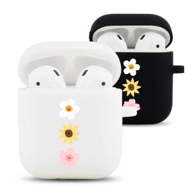 꽃송이 디자인 실리콘 에어팟 케이스