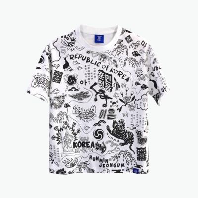 [티니타이거] 한글 그래피티 반팔 티셔츠 (화이트)
