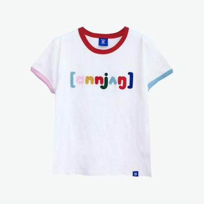 [티니타이거] 안녕 반팔 티셔츠 (화이트)