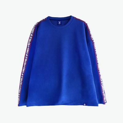 [티니타이거] 로고테잎 롱 티셔츠 (블루)