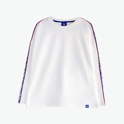 [티니타이거] 로고테잎 롱 티셔츠 (화이트)