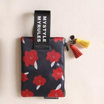 Red magnolia 마약 스트랩 파우치