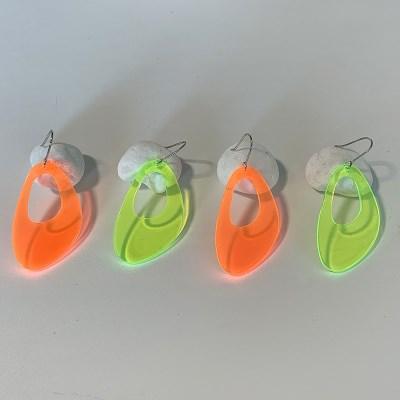 네온 링 귀걸이 (2colors)