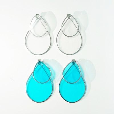 더블 레인 투웨이 귀걸이 (2colors)