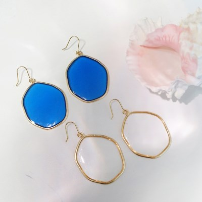 미러 귀걸이 (2colors)