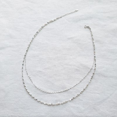 Nude Duo Necklace - Silver925