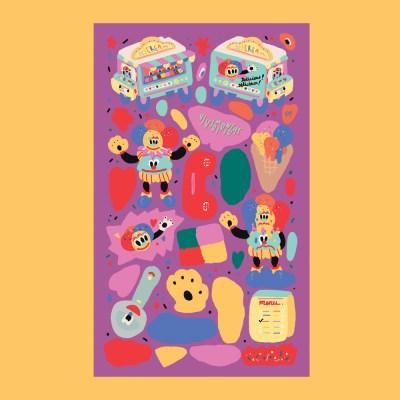비비드미드나잇 뉴아이스크림 스티커