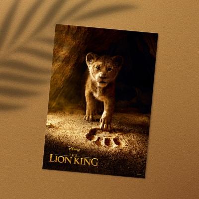 디즈니 인테리어 포스터 - 라이온킹 라이브 액션 포스터 5종