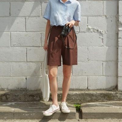 basic linen short pants_(1295295)