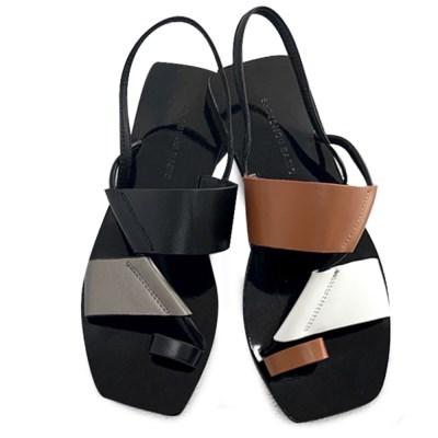 kami et muse Flip flop style modern flat sandals_KM19s305