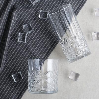 플라워컷팅글라스(사이즈선택) / 카페 아이스 홈카페 음료 유리 잔