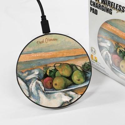 [세잔] 배가 있는 정물 - 무선충전 명화디자인패드