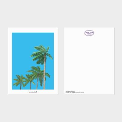 [카멜앤오아시스] Hawaiian Sky 야자수 일러스트 엽서