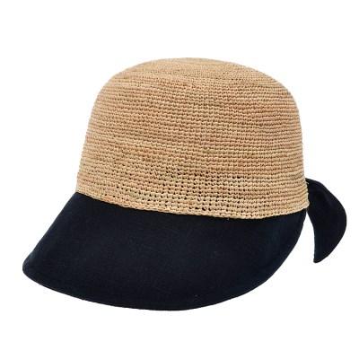 [더그레이]PKP16.린넨챙 밀짚 여성 캡모자 비치 모자