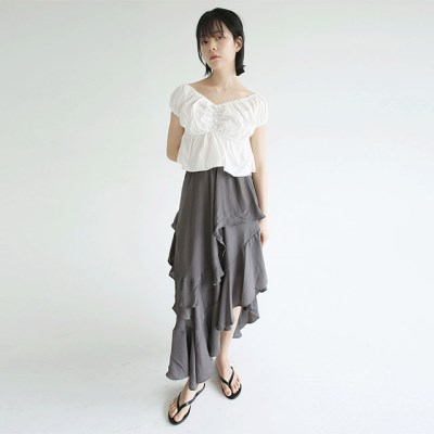 layer frill unbalance skirts (3colors)_(1297729)