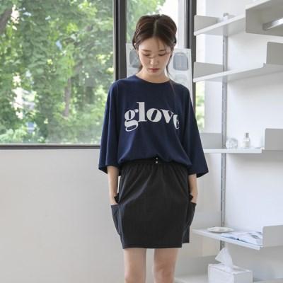 [치즈달] 'glove' 그래픽 박시 티셔츠