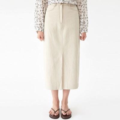 good stitch linen skirt (s, m)_(1297587)