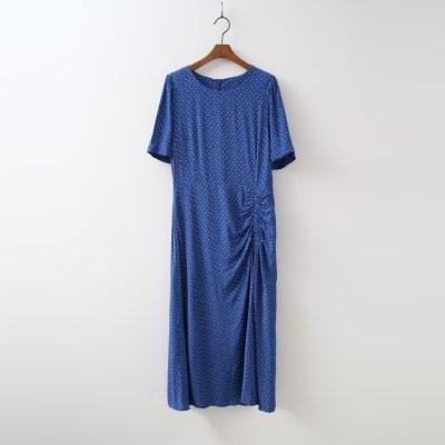 Lady Shirring Long Dress