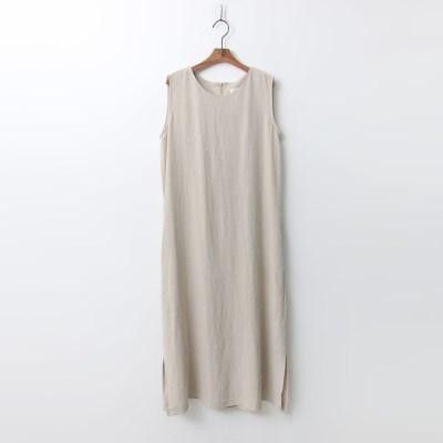 Bio Linen Slit Long Dress