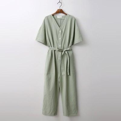 Linen Cotton Stitch Jumpsuit