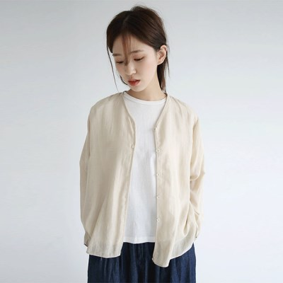 flimsy linen basic cardigan (2colors)_(1297912)