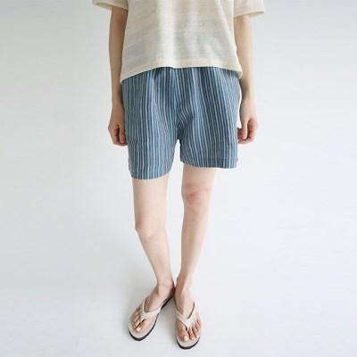 woven stripe short pants (2colors)_(1298333)