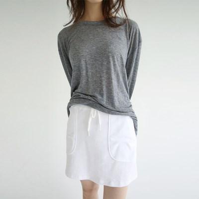 easy outline banding mini skirts (ivory)_(1298330)