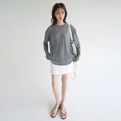 loose fit silhouette tee (charcoal)_(1298326)