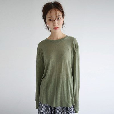 loose fit silhouette tee (3colors)_(1298325)
