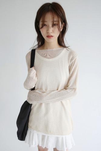 girlish fit loose knit (beige)_(1298323)
