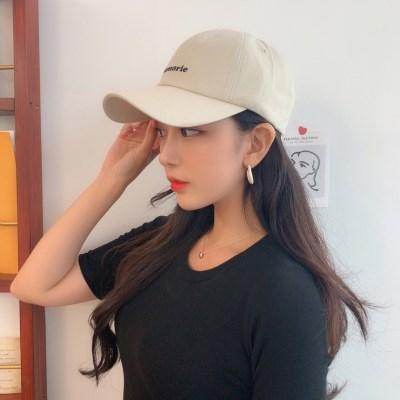메모리 레터링 자수 볼캡 모자