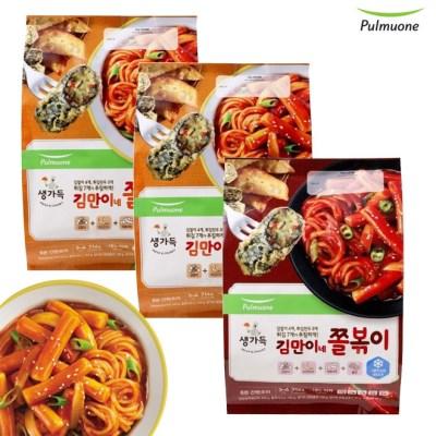 [풀무원]김만이네 쫄볶이 (3~4인)x2봉+화끈하게매운맛 (3~4인)x1봉