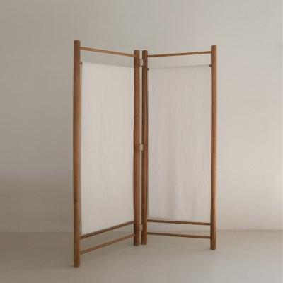 [로렌] 티크원목파티션 보우2단 bow partition