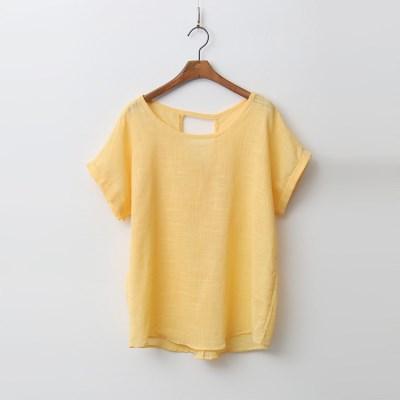 Linen Cotton Twist Blouse