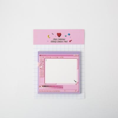 Pink Painter Sticky Memo Pad