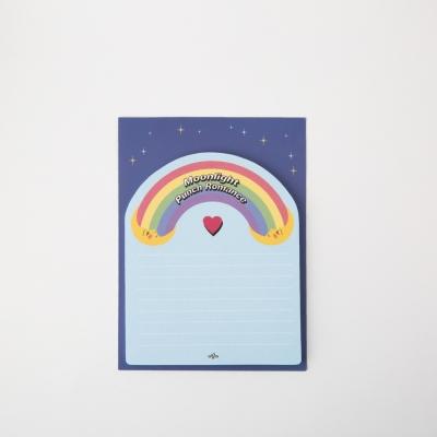 Rainbow Twin Moon Sticky Memo Pad