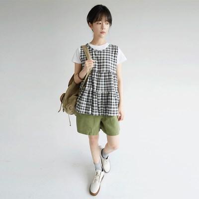check wave slip blouse (2colors)_(1299636)